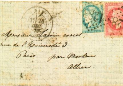 Philatélie et histoire : Les «Boules» de Moulins